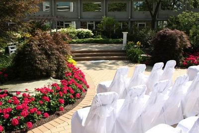 Seating for outdoor wedding ceremony